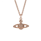Vivienne Westwood Mini Bas Relief Rose Gold Pendant