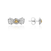 Vivienne Westwood Pamela Silver & Gold Bow Earrings
