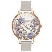 Olivia Burton Parlour Bee Blooms Grey & Rose Gold Watch
