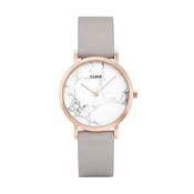 CLUSE La Roche Petite Rose Gold White Marble & Grey Watch