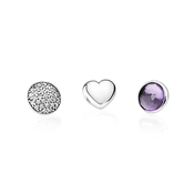 PANDORA February Petites Locket Charm