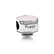 PANDORA Pink Happy Birthday Cake Charm