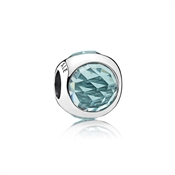 PANDORA Icy Green Radiant Droplet Charm