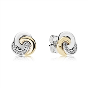 PANDORA Interlinked Circles Stud Earrings