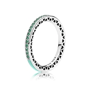 PANDORA Mint Green Radiant Hearts of PANDORA Ring