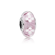 PANDORA Pink Bloom Murano Glass Charm