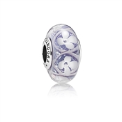 PANDORA Purple Bloom Murano Glass Charm