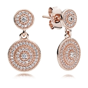 PANDORA Radiant Elegance Rose Drop Earrings
