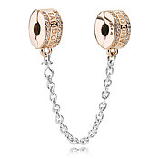 Pandora Rose Logo Safety Chain