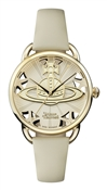 Vivienne Westwood Gold and Cream Leadenhall Watch