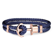 Paul Hewitt Navy Blue & Rose Gold Phrep Bracelet
