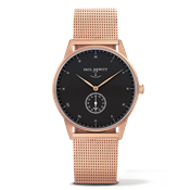Paul Hewitt Signature Line Black & Rose Gold Watch