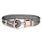 Paul Hewitt Grey & Rose Gold Phrep Bracelet