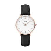 CLUSE Minuit Black + Rose Gold Watch