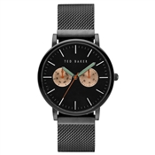 Ted Baker Mens Black Mesh Brit Watch
