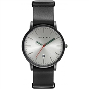 Ted Baker Mens Black Leather Watch