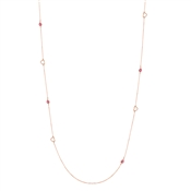 August Woods Rose Gold & Ruby Long Necklace