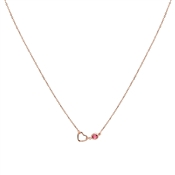August Woods Rose Gold & Ruby Necklace