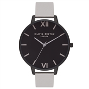 Olivia Burton After Dark Grey & Black Watch