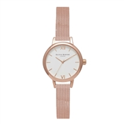 Olivia Burton Mini Dial Rose Gold Mesh Watch