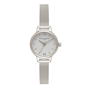 Olivia Burton Mini Dial Silver Mesh Watch
