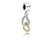 PANDORA Interlocked Hearts Pendant Charm