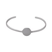Pilgrim Mell Silver Disc Bangle