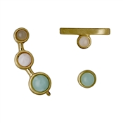 Pilgrim Elda Gold Earring Set