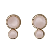 Pilgrim Elda Rose Gold & Pink Earrings