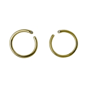 Pilgrim Gaia Gold Circle Stud Earrings