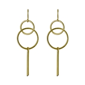 Pilgrim Gaia Gold Circle Earrings