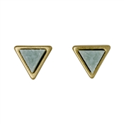 Pilgrim Green & Gold Triangle Earrings