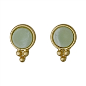 Pilgrim Gold & Green Abstract Earrings
