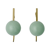 Pilgrim Green & Gold Earrings