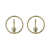 Pilgrim Gold & Green Circle Earrings