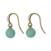 Pilgrim Gold & Turquoise Earrings