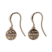Pilgrim Grace Rose Gold Crystal Earrings