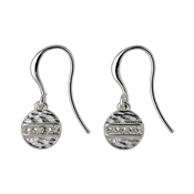 Pilgrim Grace Silver Crystal Earrings