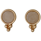 Pilgrim Rose Gold Abstract Earrings