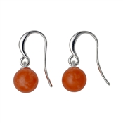 Pilgrim Orange & Silver Earrings