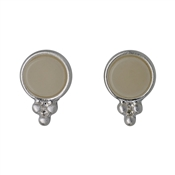 Pilgrim Silver & Grey Abstract Earrings