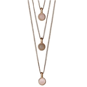 Pilgrim Elda Rose Gold Layered Necklace