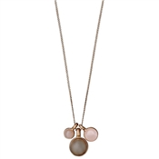 Pilgrim Elda Rose Gold Charm Necklace