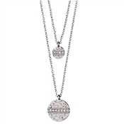 Pilgrim Grace Silver Layered Necklace