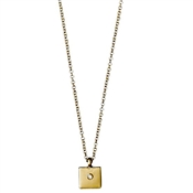 Pilgrim Rosa Gold Square Necklace