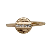 Pilgrim Grace Rose Gold Crystal Disc Ring
