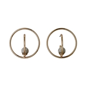 Pilgrim Rose Gold & Grey Circle Earrings