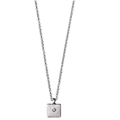 Pilgrim Rosa Silver Crystal Necklace