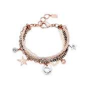 August Woods Silver Bead Charm Layer Bracelet
