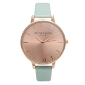 Olivia Burton Big Dial Mint & Rose Gold Watch